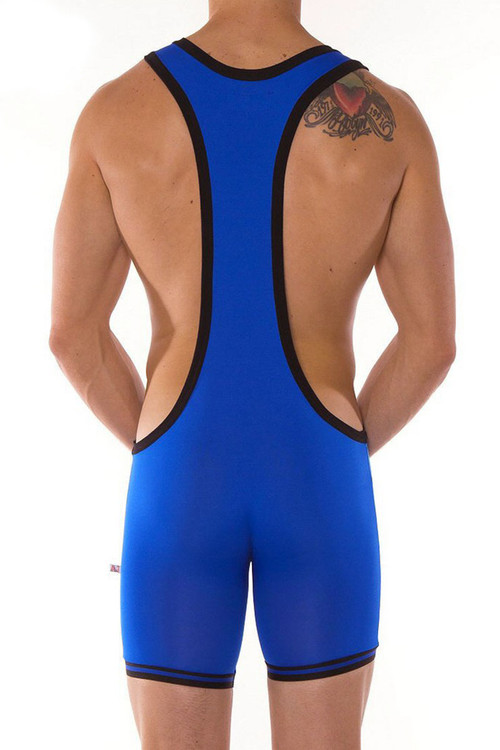 Royal Blue - Go Softwear AJ Gym Zephyr Wrestler 8778 - Rear View - Topdrawers Underwear for Men