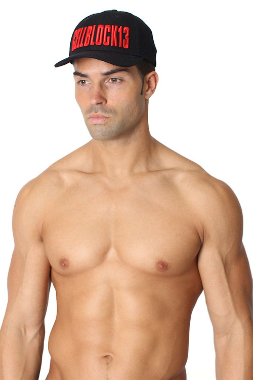 Red - CellBlock 13 Block13 Snap Back Cap A045 - Side View - Topdrawers Menswear