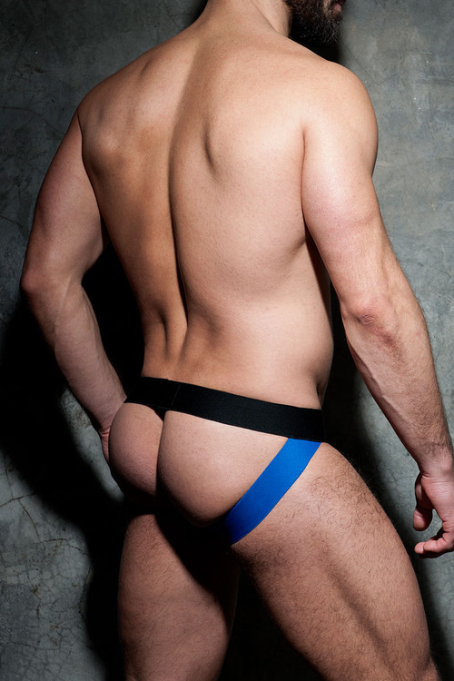 16 Royal Blue - Addicted Fetish Camo Mesh Jock ADF73 - Rear View - Topdrawers Fetish Underwear for Men