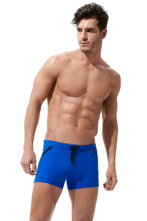 Royal Blue - Gregg Homme Exotic Swim Boxer Brief 161205 - Front View - Topdrawers Swimwear for Men