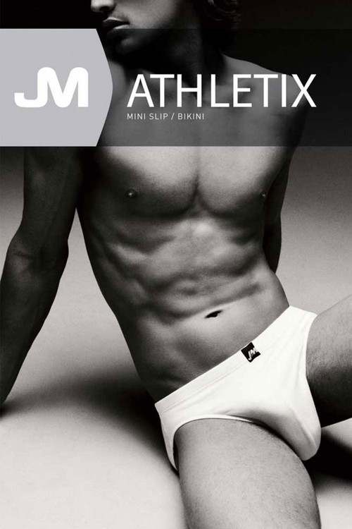 002 White - JM ATHLETIX Bikini 04022 - Box View - Topdrawers Underwear for Men
