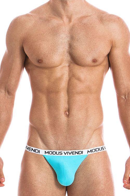 Aqua - Modus Vivendi Eggs Tanga Brief 09811 - Front View - Topdrawers Underwear for Men
