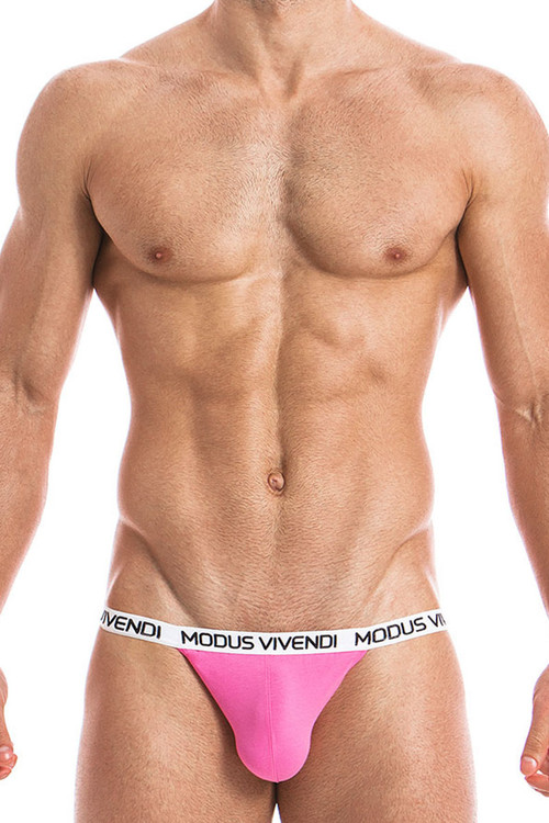 Fuchsia - Modus Vivendi Eggs Tanga Brief 09811 - Front View - Topdrawers Underwear for Men