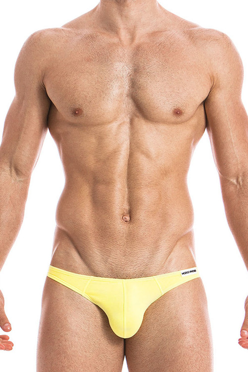Yellow - Modus Vivendi Eggs Bottomless Brief 09812 - Front View - Topdrawers Underwear for Men