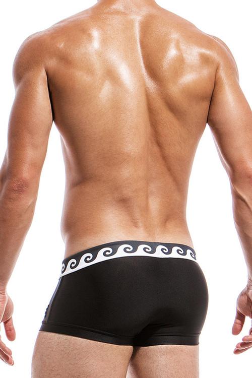 Black - Modus Vivendi Iconic Brazil Cut Swim Boxer FS1821 - Rear View - Topdrawers Swimwear for Men