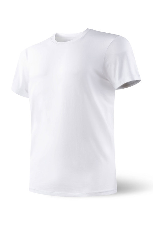 WHT White - Saxx Undercover S/S Crew SXTC19 - Front View - Topdrawers Underwear for Men