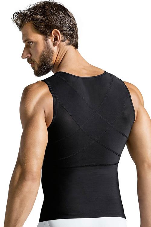 700 Black - Leo Torso Toner Body Shaper 035000 - Rear View - Topdrawers Underwear for Men