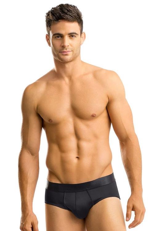 700 Black - Leo Padded Butt Enhancer Brief 033293 - Front View - Topdrawers Underwear for Men