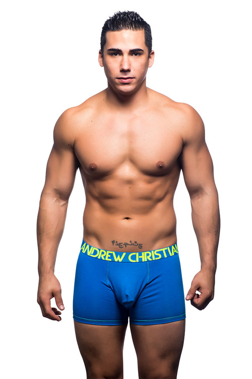 Electric Blue - Andrew Christian Almost Naked Premium Boxer 90736 - Front View - Topdrawers Underwear for Men