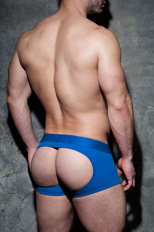 16 Royal Blue - Addicted Fetish Bottomless Fetish Boxer ADF93 - Rear View - Topdrawers Underwear for Men