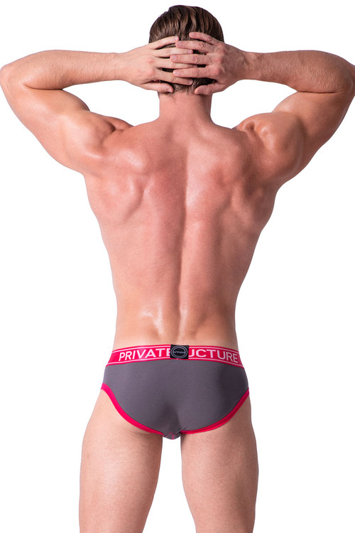 Berry - Private Structure Luminous Low Rise Mini Brief SLUZ3681 - Rear View - Topdrawers Underwear for Men