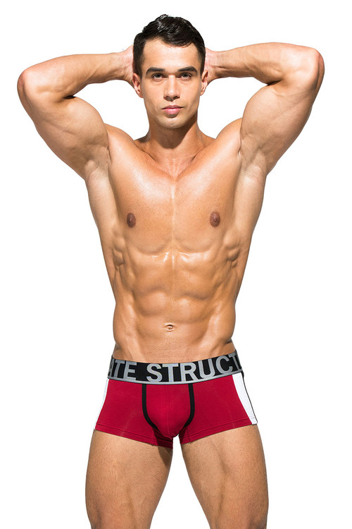 Maroon - Private Structure BeFit Athlete Trunk BATMU3346BT - Front View - Topdrawers Underwear for Men