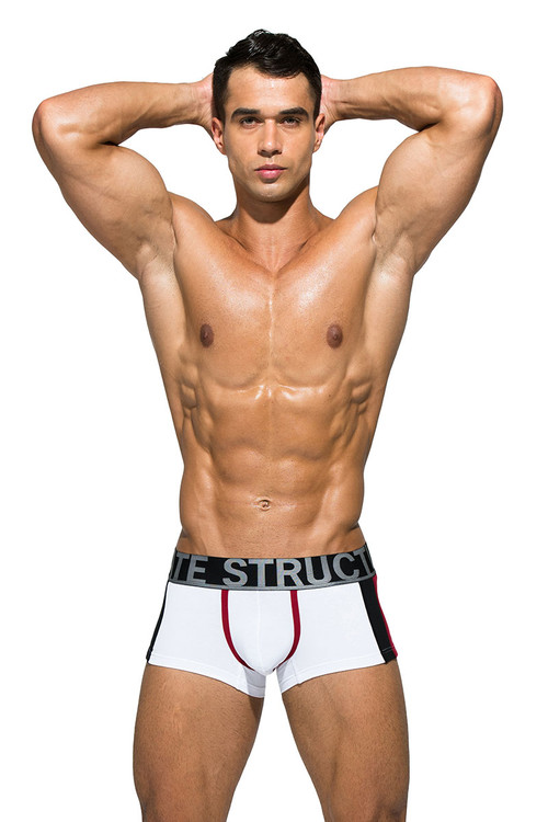 White - Private Structure BeFit Athlete Trunk BATMU3346BT - Front View - Topdrawers Underwear for Men