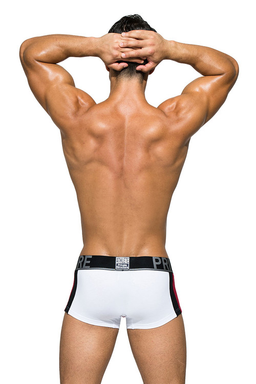 White - Private Structure BeFit Athlete Trunk BATMU3346BT - Rear View - Topdrawers Underwear for Men