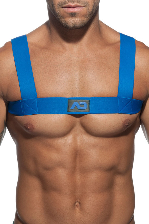 16 Royal Blue - Addicted Basic Elastic Harness ADF104 - Front View - Topdrawers Underwear for Men