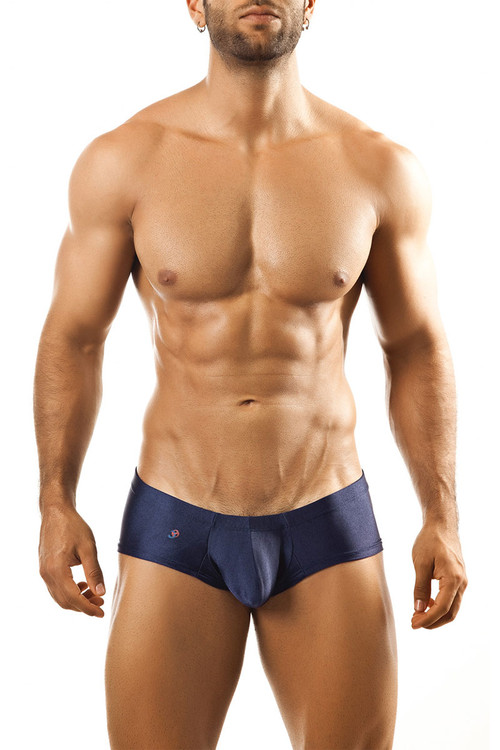 Navy Blue - Joe Snyder Bulge Boxer JSBUL-03 - Front View - Topdrawers Underwear for Men