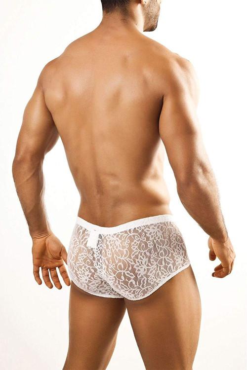 White Lace - Joe Snyder Bulge Boxer JSBUL-03 - Rear View - Topdrawers Underwear for Men