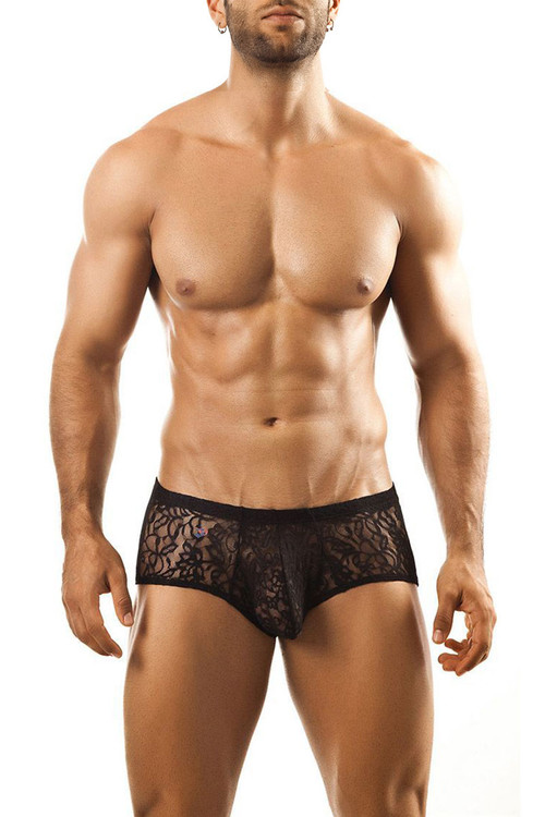 Black Lace - Joe Snyder Bulge Boxer JSBUL-03 - Front View - Topdrawers Underwear for Men