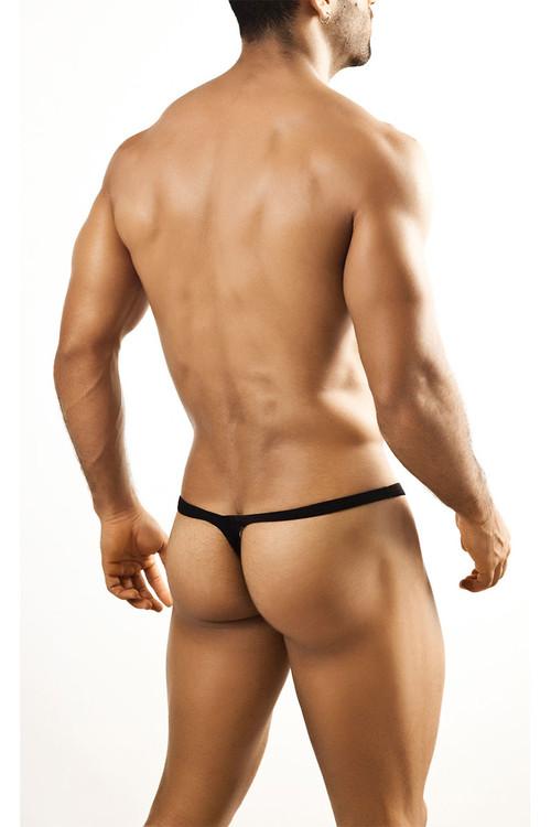 Black - Joe Snyder Bulge Thong JSBUL-02 - Rear View - Topdrawers Underwear for Men