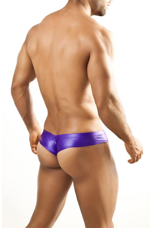 Purple - Joe Snyder Mini Cheek Thong JS22 - Rear View - Topdrawers Underwear for Men