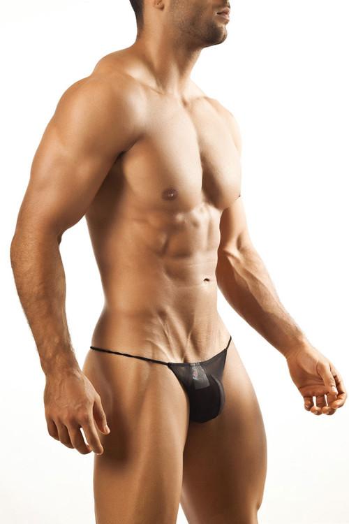 Black Mesh - Joe Snyder G-String JS02 - Front View - Topdrawers Underwear for Men
