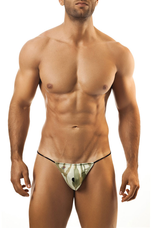 Camouflage Print - Joe Snyder G-String JS02 - Front View - Topdrawers Underwear for Men