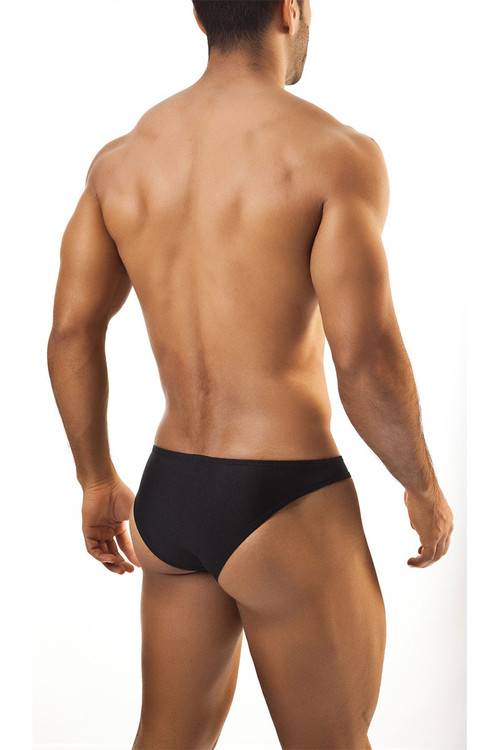 Black - Joe Snyder Bikini Brief JS01 - Rear View - Topdrawers Underwear for Men