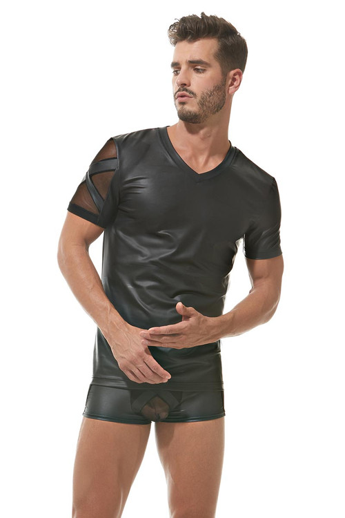 Gregg Homme Black X T-Shirt 162607 - Front View - Topdrawers Underwear for Men