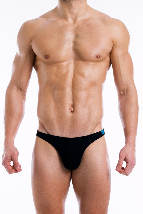 Modus Vivendi Crystal Mini Brief 10011 Black - Front View - Topdrawers Underwear for Men