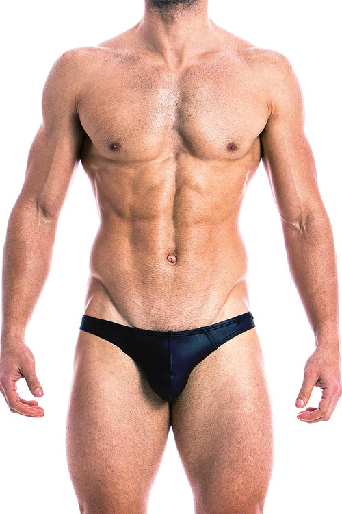 Modus Vivendi High Tech Bottomless Brief 14811 Black - Front View - Topdrawers Underwear for Men