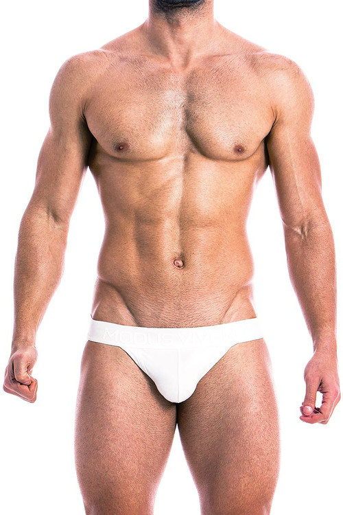 Modus Vivendi High Tech Jockstrap 14812 White - Front View - Topdrawers Underwear for Men