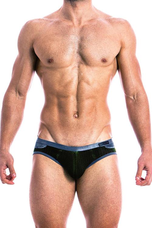 Modus Vivendi Jock Bottomless Brief 17811 Khaki - Front View - Topdrawers Underwear for Men