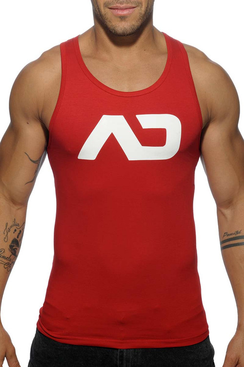 Addicted Basic AD Tank Top AD457-06 Red - Mens Athletic Tank Tops - Front View - Topdrawers Clothing for Men