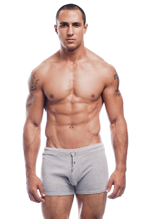 Go Softwear Hiker Short 4643 - Heather Grey - Mens Shorts - Front View - Topdrawers Clothing for Men