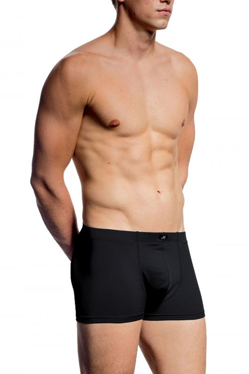 JM SKINZ Pouch Boxer 88137 - Black - Mens Boxer Briefs - Front View - Topdrawers Underwear for Men