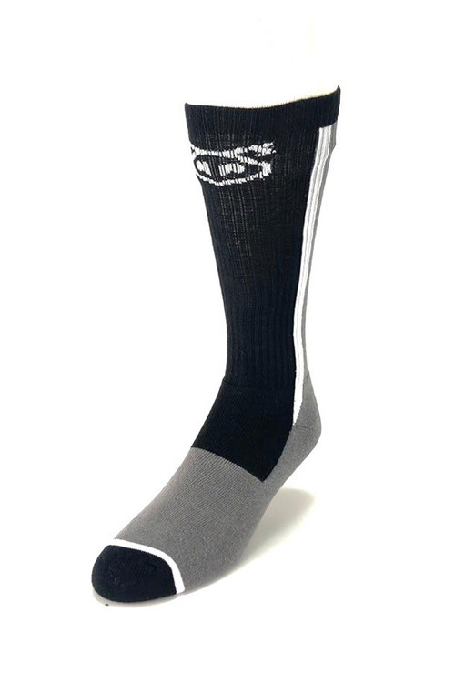 Nasty Pig Standard Issue Sock 7401 - Grey/Black - Mens Socks - Front View - Topdrawers Underwear for Men