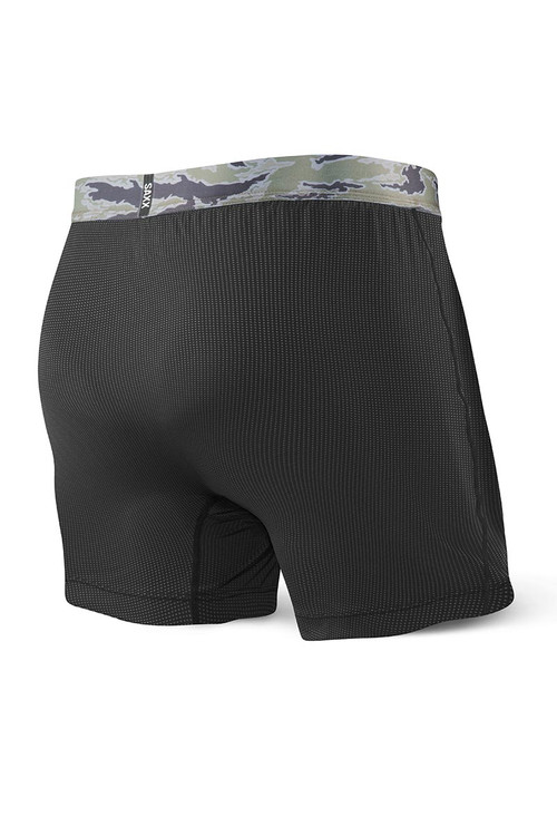 Saxx Quest Loose Cannon Boxer SXLF70F - BLK Black - Mens Loose Boxer Shorts - Rear View - Topdrawers Underwear for Men