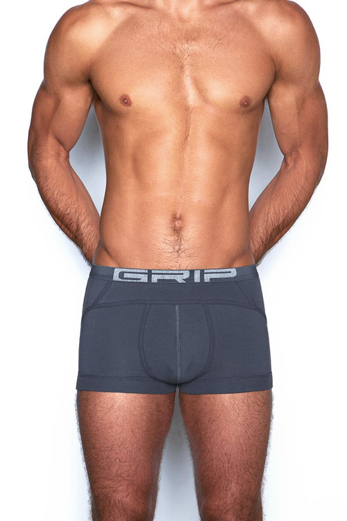 C-IN2 Grip Lite Trunk 3523 - 073 Peppercorn Grey - Mens Trunk Boxer Briefs - Front View - Topdrawers Underwear for Men
