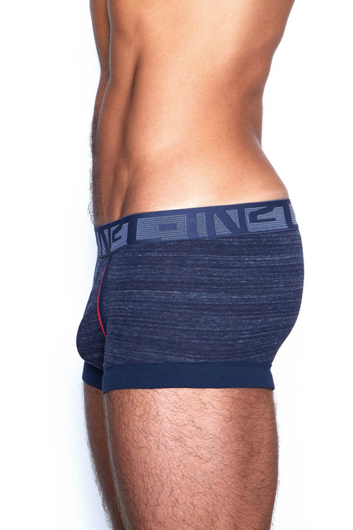 C-IN2 Hand Me Down Trunk 1923F - 420 Raw Indigo Navy - Mens Trunk Boxer Briefs - Side View - Topdrawers Underwear for Men