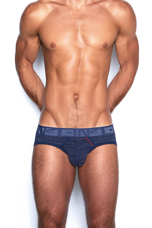 C-IN2 Hand Me Down Low Rise Brief 1913F - 420 Raw Indigo Navy - Mens Briefs - Front View - Topdrawers Underwear for Men