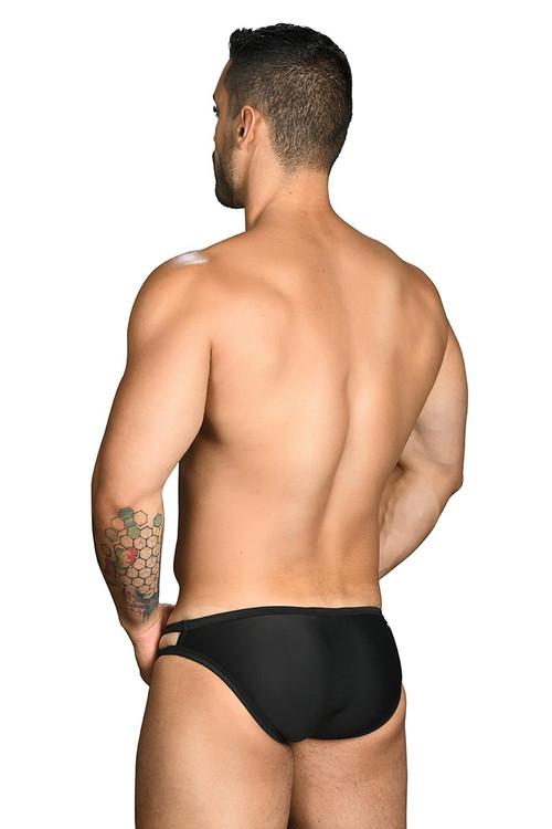 Andrew Christian Wild Thing Swim Bikini 7713 - Black - Mens Swim Bikini Briefs - Rear View - Topdrawers Swimwear for Men