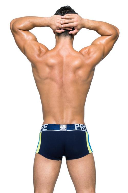 Private Structure BeFit Athlete Trunk BATMU3346BT - DBU Dress Blue - Mens Trunk Boxer Briefs - Rear View - Topdrawers Underwear for Men