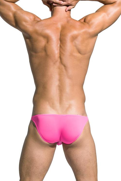 Private Structure Desire Low Rise Bikini DGEMU3571BT - PNK Pink - Mens Bikini Briefs - Rear View - Topdrawers Underwear for Men