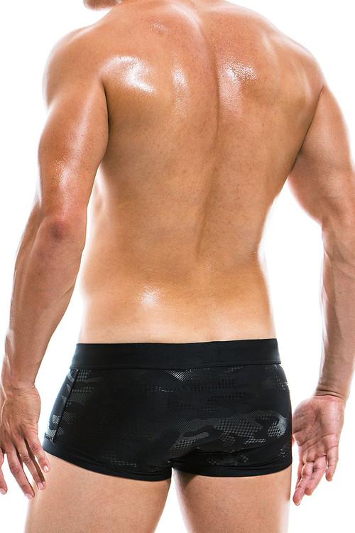 Modus Vivendi Glitter Brazil Cut Swim Trunk AS1921 - Black - Mens Swim Trunk Swimsuits - Rear View - Topdrawers Swimwear for Men