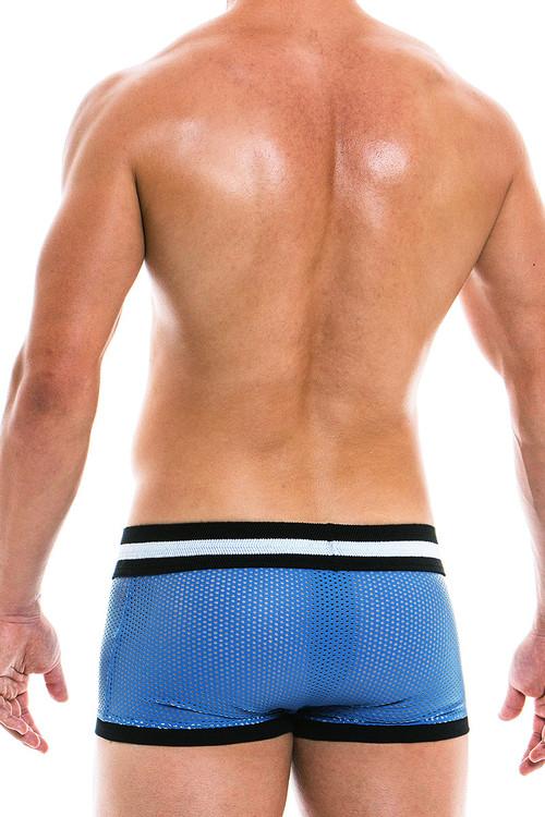 Modus Vivendi Vegan Boxer 03921 - Blue - Mens Boxer Briefs - Rear View - Topdrawers Underwear for Men