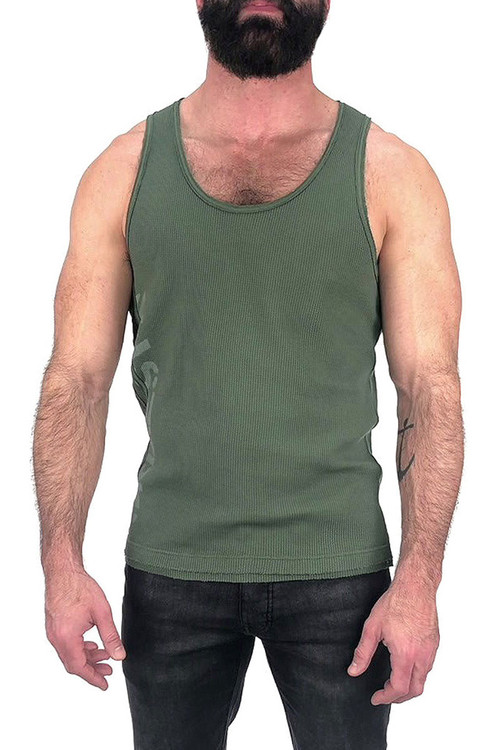 Nasty Pig Outpost Tank Top 1346 - Green - Front View - Topdrawers Clothing for Men