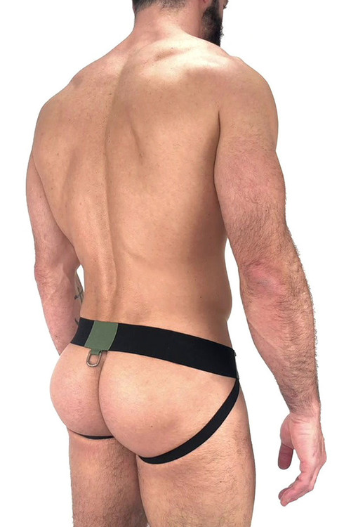 Nasty Pig Outpost Jock Strap 5602 - Black  - Mens Jockstraps - Rear View - Topdrawers Underwear for Men