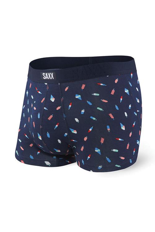 Saxx Undercover Trunk SXTR19 - RKP Navy Rocket Pop - Mens Boxer Briefs - Front View - Topdrawers Underwear for Men
