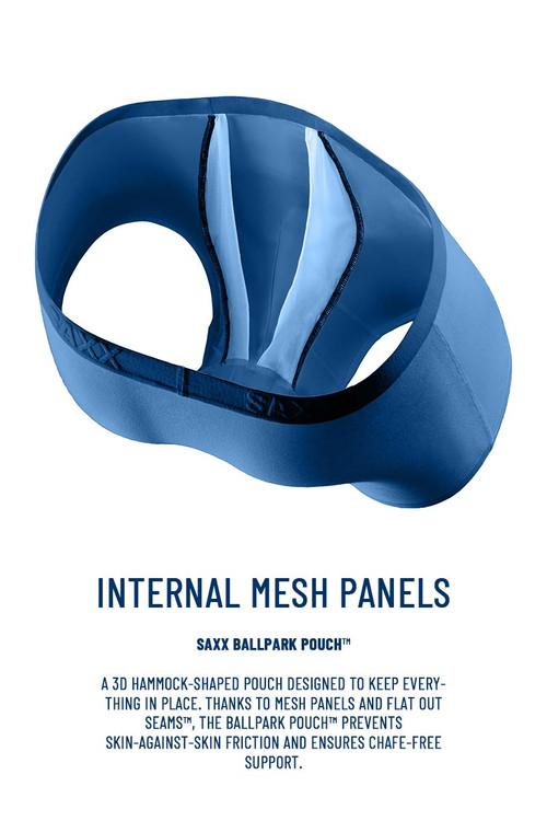 Saxx Underwear BallPark Pouch Infographic - Topdrawers Underwear for Men