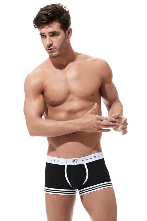 Gregg Homme Evoke Boxer Brief 160505 - Black - Mens Boxer Briefs - Front View - Topdrawers Underwear for Men